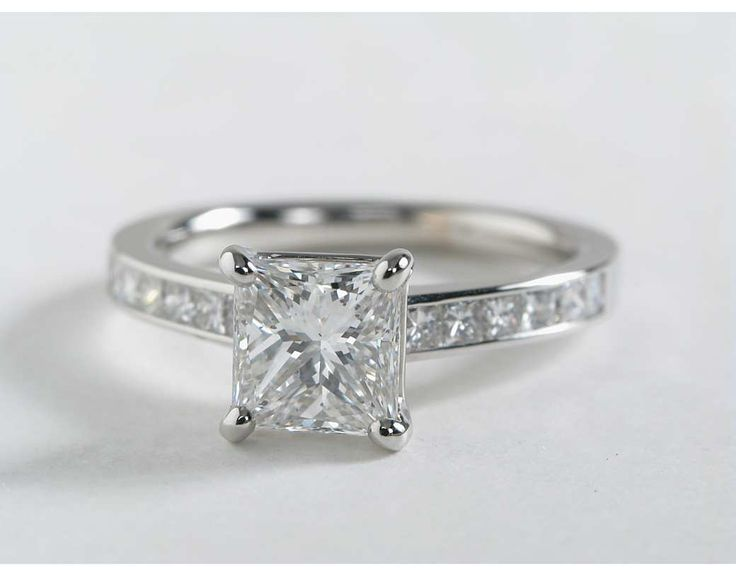 princess cut blue nile and engagement rings on