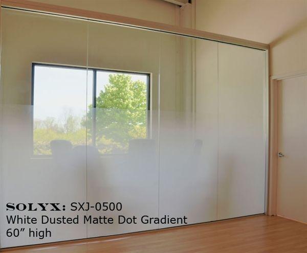 Decorative Films, LLC. Decorative Films - Decorative Window Films, Stained Glass, Privacy. SOLYX SXJ-0500 White Matte Dot Gradation