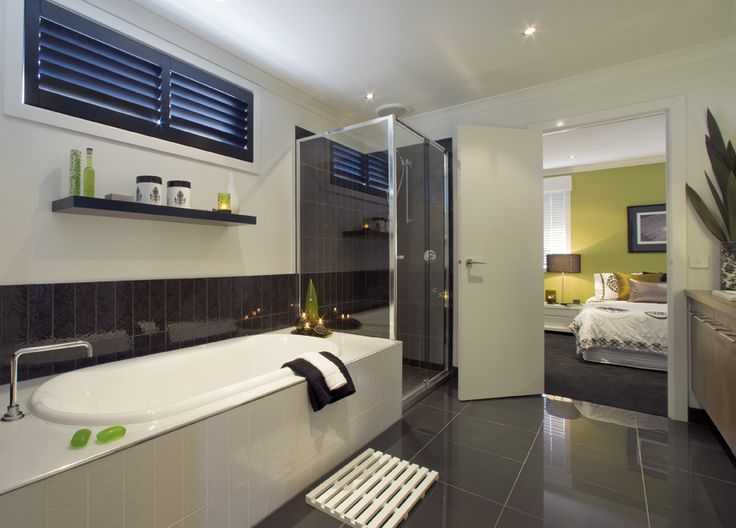 Stratos nero polished ensuite tiles bathroom ideas for Bathroom ideas qld