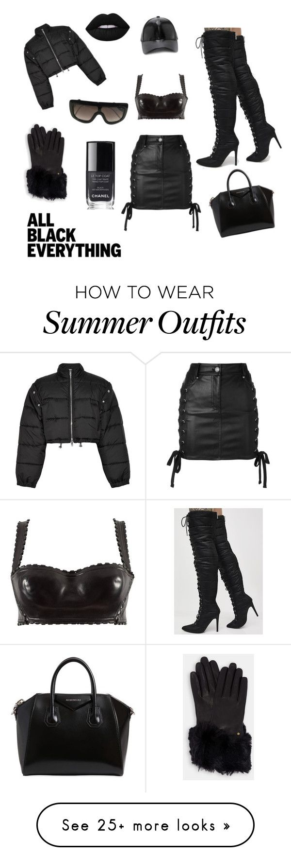 """""""Smooth Criminal """" by kingsosan on Polyvore featuring Cape Robbin, Alaïa, 3.1 Phillip Lim, CÉLINE, Forever 21, Ted Baker, Givenchy, Versus, Chanel and allblackoutfit"""