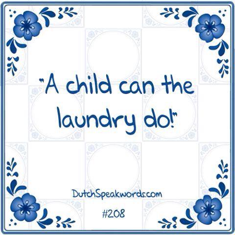 Een kind kan de was doen!