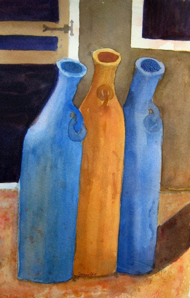 3 Vessels - A study. Linked to Creative Tuesdays. http://creativetuesdays.blogspot.ca/2013/05/inspiration-for-trio-theme.html#trio