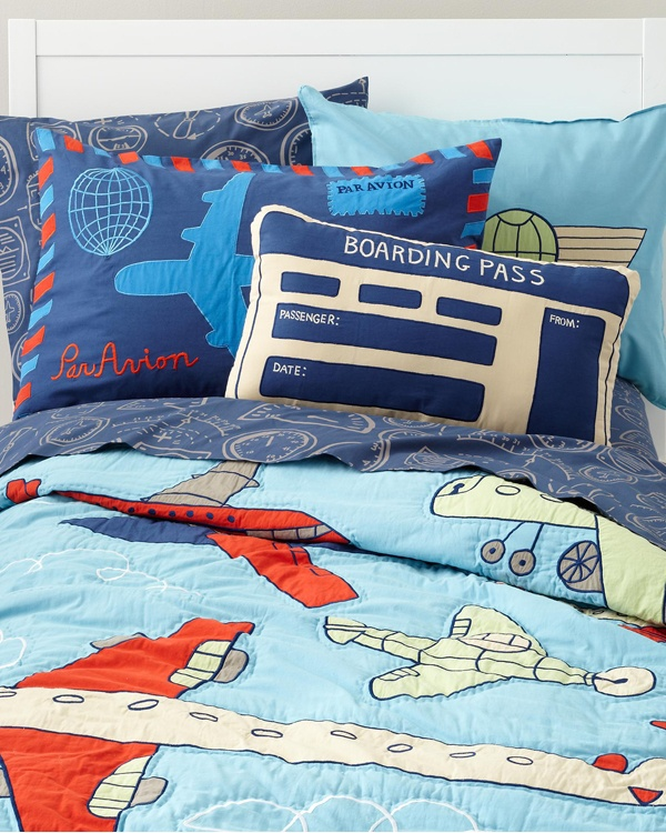 kids airplane bedding