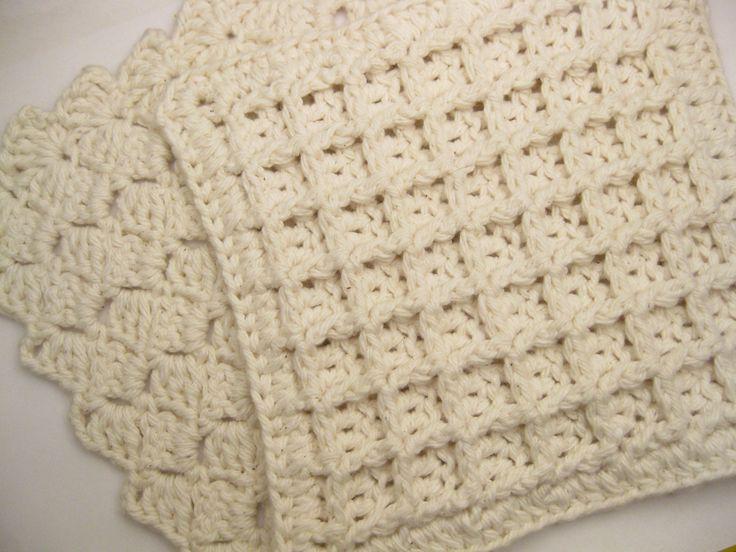 Waffle Knit Dishcloth Pattern : Ravelry: Project Gallery for Waffle Crochet Dishcloth pattern by Chip Flory ...