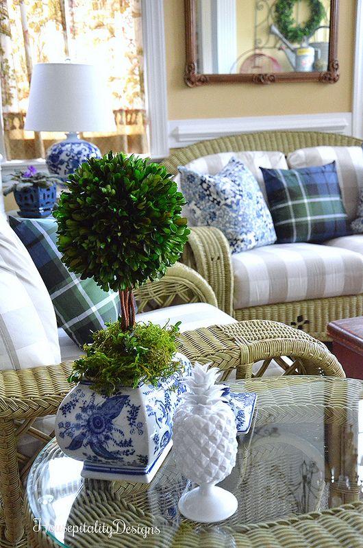 Blue and White-Sunroom-Housepitality Designs