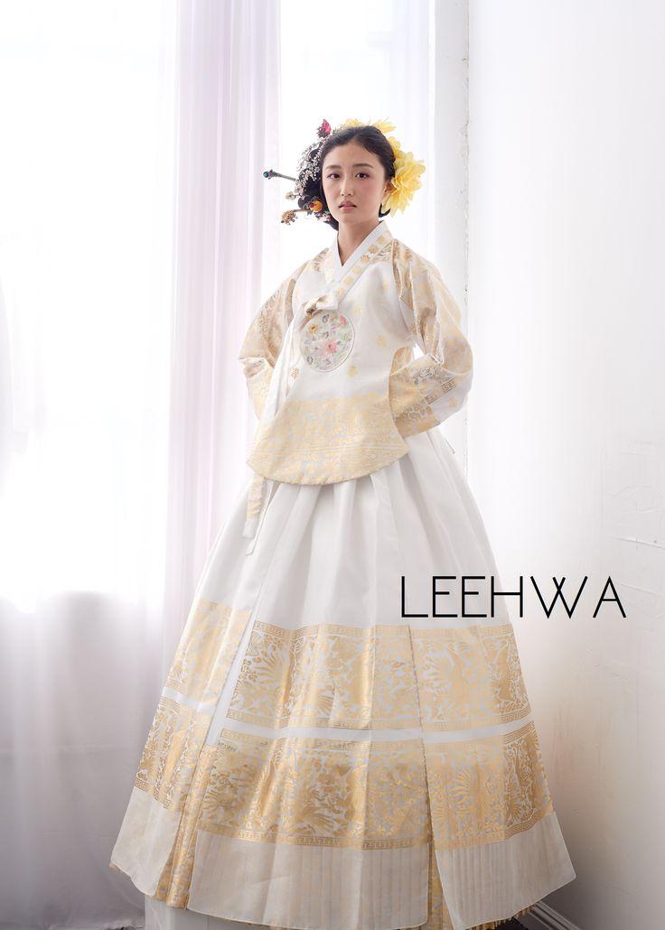 Modern bridal hanbok dress for the wedding day! Wedding