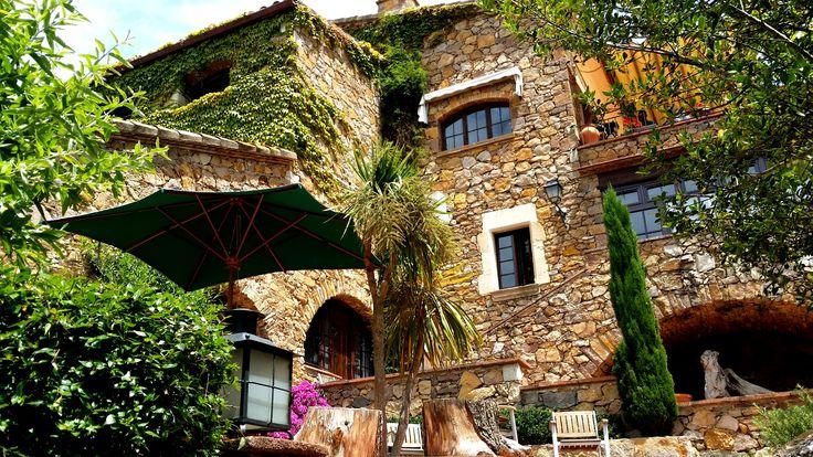 Hotel Restaurant Galena Mas Comangau (Begur). Terrazas