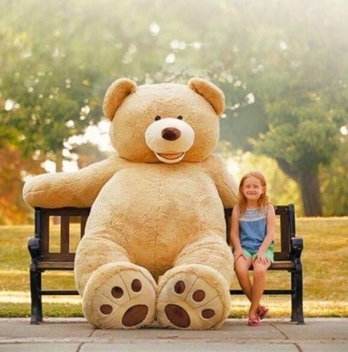 HUGE-GIANT-TEDDY-BEAR-93-HIGH-QUALITY-PLUSH-LIFE-SIZE-STUFFED-ANIMAL-VALENTINE