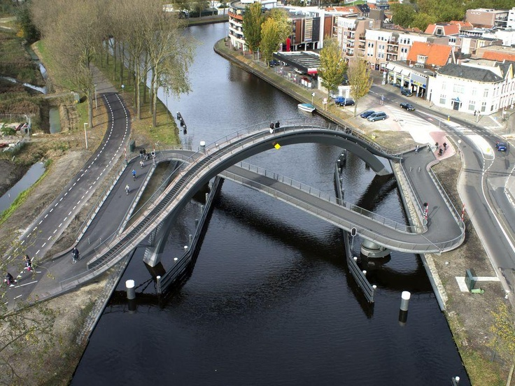 AECCafe.com - ArchShowcase - Melkweg Bridge in Purmerend, the Netherlands by NEXT Architects
