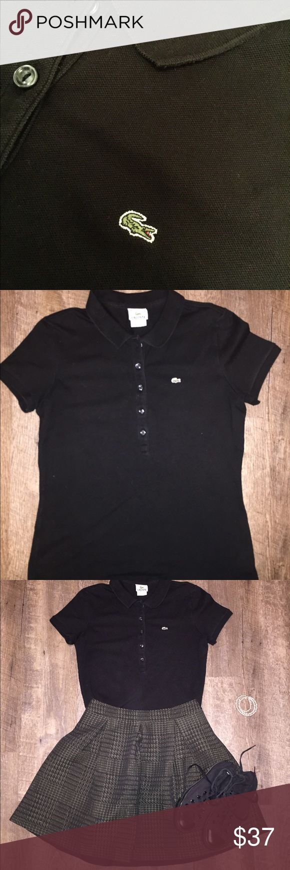 *vintage* Lacoste polo shirt Excellent condition Lacoste brand polo shirt small in size. Wear with jeans, or a fancy skirt (as pictured) (skirt for sale in separate listing) Lacoste Tops Button Down Shirts