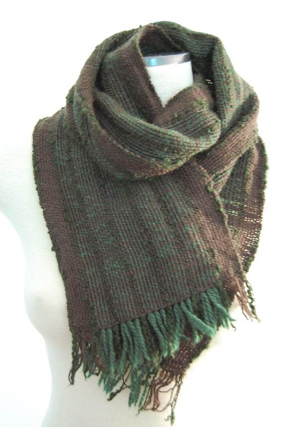 Handwoven Scarf Handwoven Wool Scarf Hand by LocallySewnTextiles