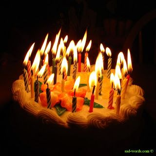 Happy birthday cake مع شموع