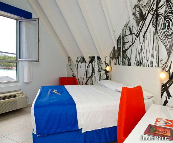 Junior Suite. Otrobandahotel.com, small boutique hotel in curacao, willemstad