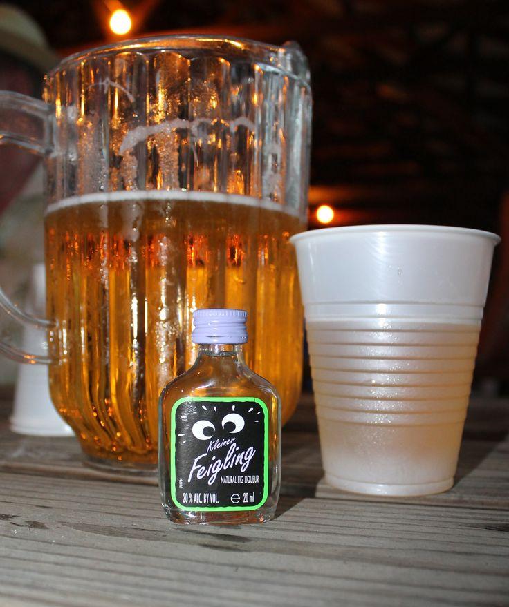 The perfect Oktoberfest accompaniment - Kleiner Feigling Fig Liqueur Shot.