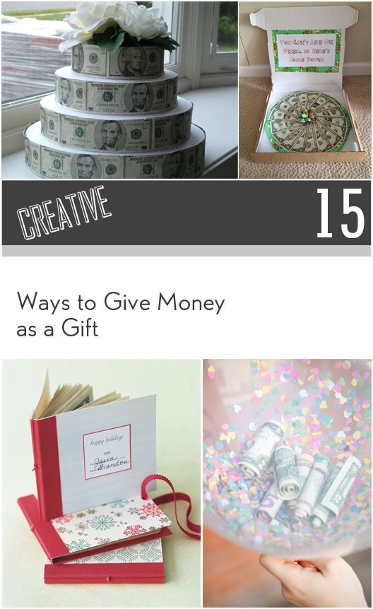 Unique Ways To Decorate Living Room: 10+ Ideas About Creative Money Gifts On Pinterest