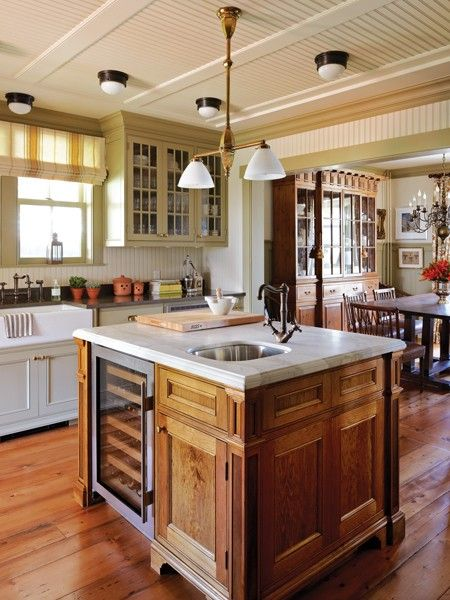 569 best country living country home decor images on for Pictures of country kitchens with islands
