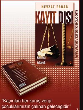 """Nevzat Erdağ'ın üç yıllık araştırmasının ürünü olan ve Cinus Yayınları'ndan çıkan son kitabı """"KAYIT DIŞI, KARA PARA, YOLSUZLUK"""", bütün kitapevlerine dağıtımı yapılarak okuyucularla buluştu."""
