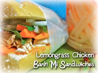The Dilettante Chef: Lemongrass Chicken Banh Mi Sandwiches