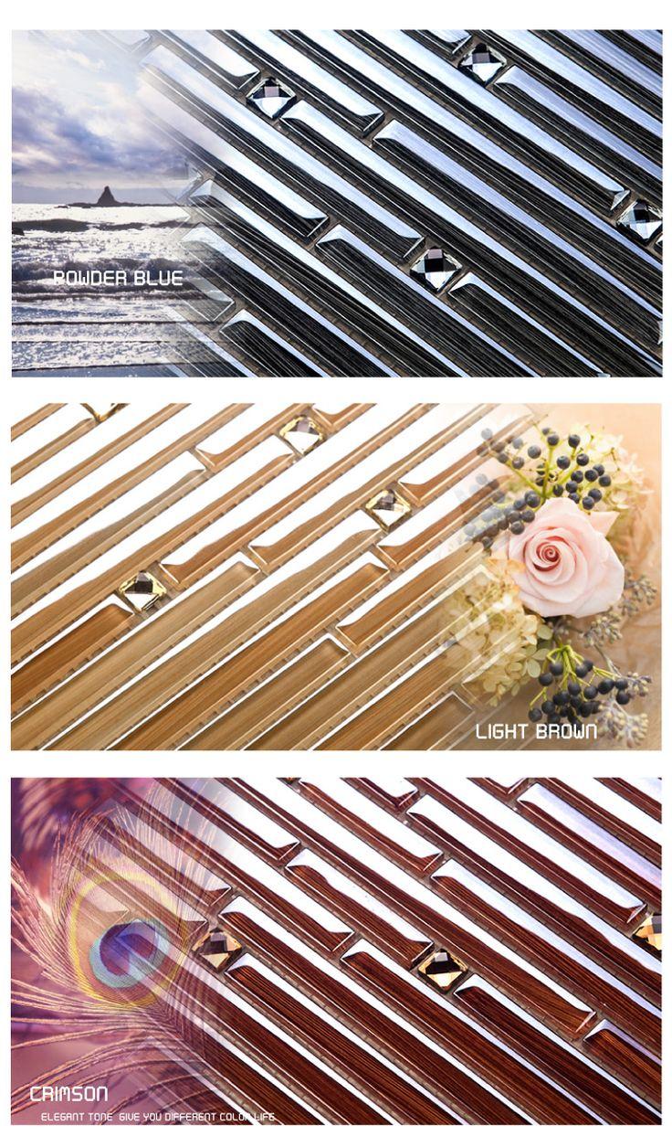 stripe glass mosaic sheet size: 300*300MM thickness:4MM