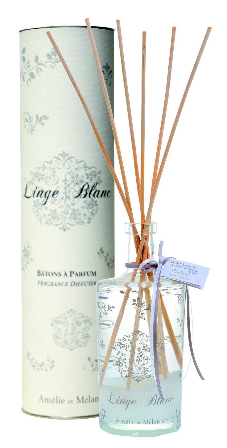 Ambientador de stick Linge Blanc.