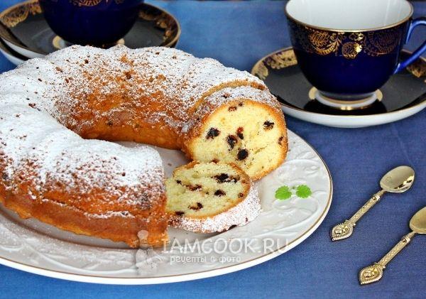 Ванильный кекс с шоколадными каплями