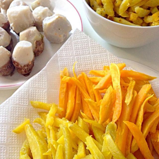 薩摩芋3種類と里芋。いもづくしの昼ごはん。 - 6件のもぐもぐ - 薩摩芋フライと里芋のきぬかつぎ by Ayumi Yoda