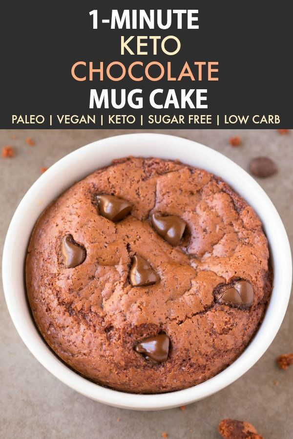 1 Minute Keto Chocolate Mug Cake Paleo Vegan Sugar Free
