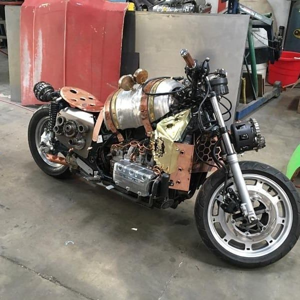 Here it is! The STEAM PUNK bike from Gotham Garage What ...