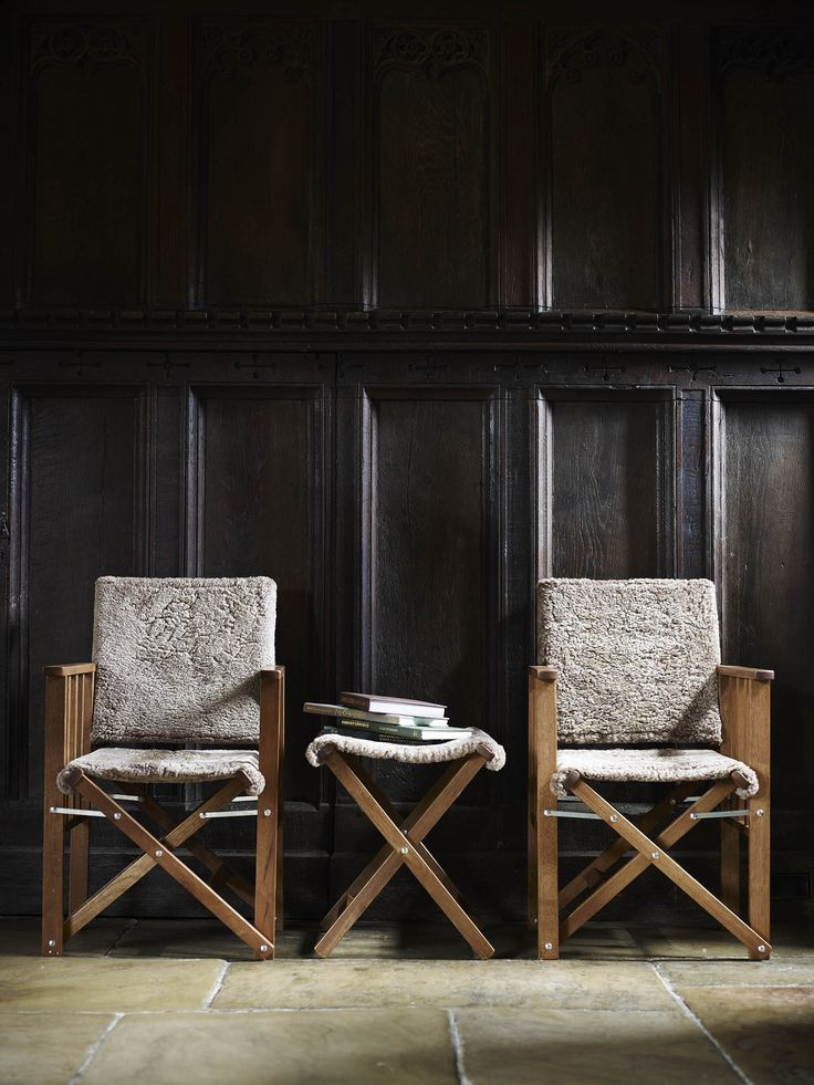 Sheepskin Directors Chairs