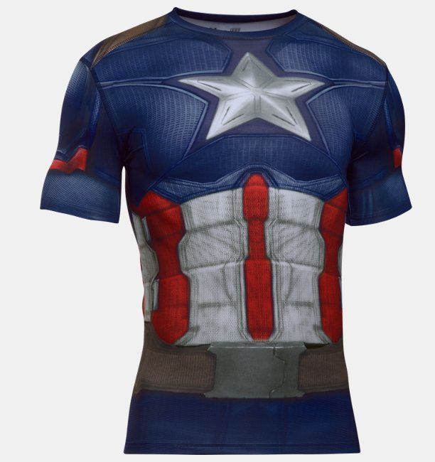 Playera de compresión Under Armour® Alter Ego Captain America para Hombre