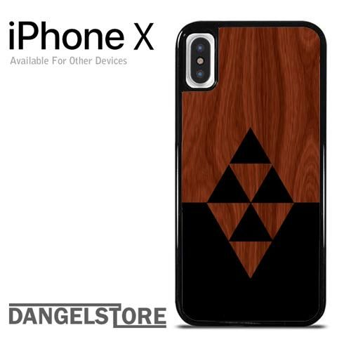 Darkwood Black Triangles For iPhone X