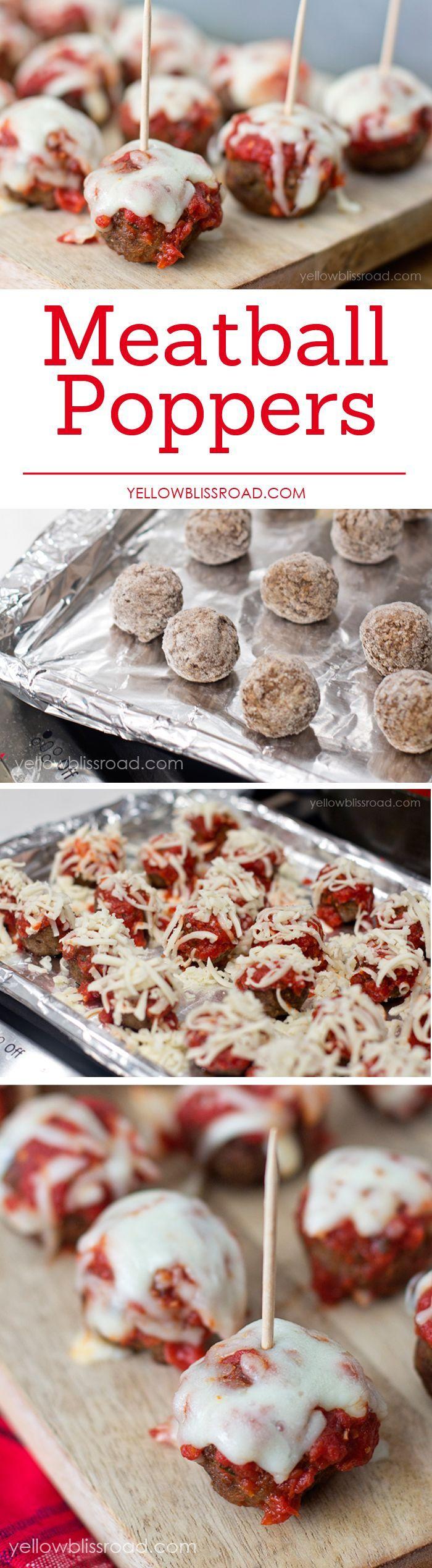 Easy Meatball Poppers with Marinara