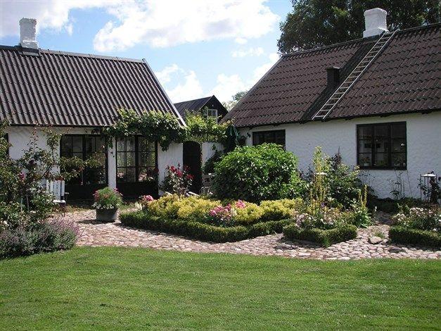 Modern version of a traditional garden, Skåne, Sweden.