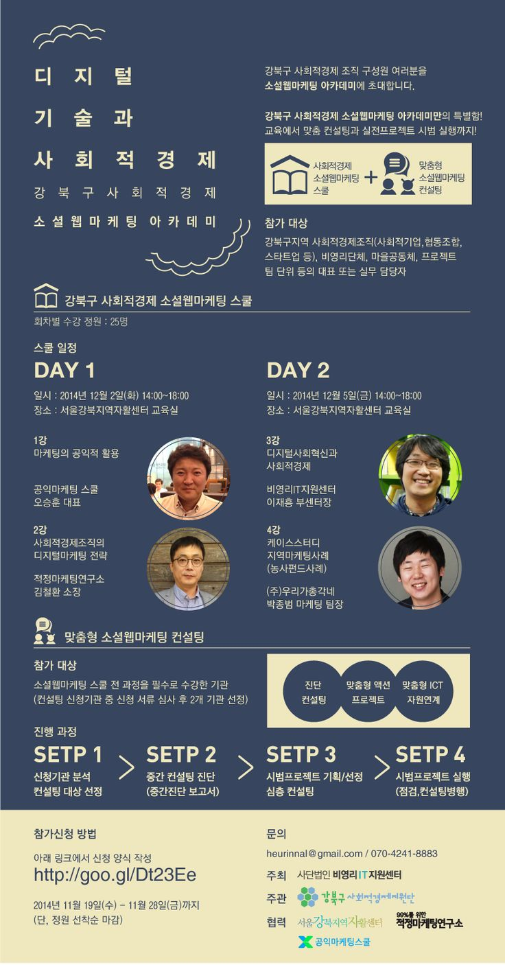 디지털기술과 사회적경제 : 강북구사회적경제 소셜웹마케팅 아카데미
