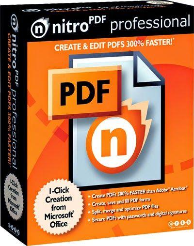 Nitro PDF, Es un programa en lo cual podrás hacer lo que quieras con un documento PDF ya sea editar, crear y convertir y de la manera cómoda y rápida. http://configurafacilito.blogspot.com/2014/11/nitro-pdf-95.html