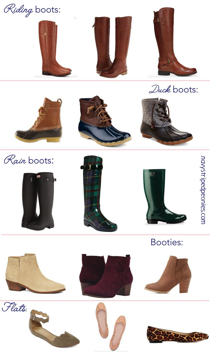 Preppy winter boots, booties and flats