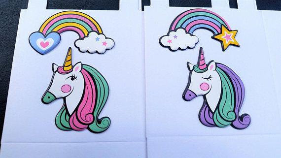 19 Unicorn party favour boxes  pastel unicorn fantasy gift