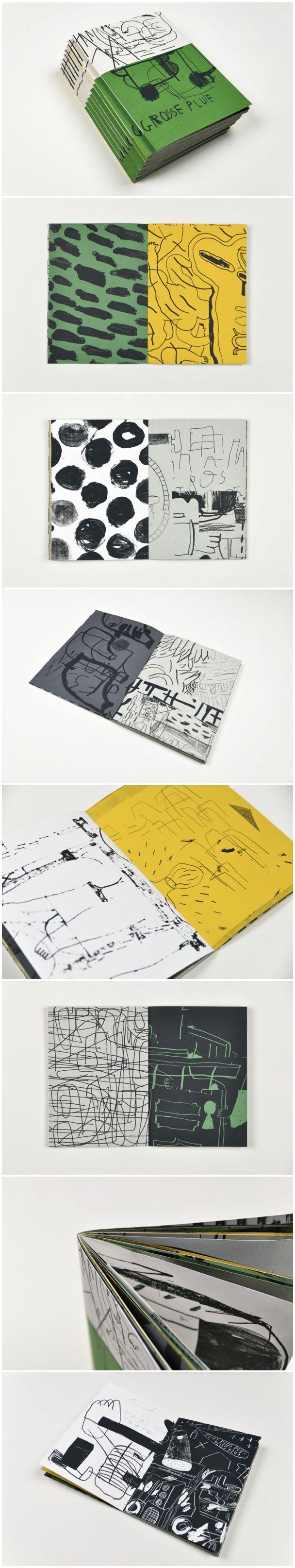 Grosse pluie   Screen printed book by Marion Jdanoff and Damien Tran