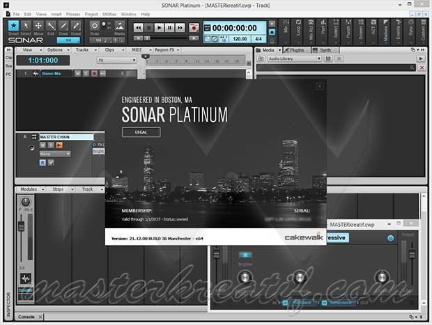 Cakewalk SONAR is one of the most advanced music production software, it is the world's most powerful 'Flagship' Digital Audio Workstation (DAW) today.