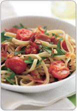 Prosciutto, chilli and rocket linguine