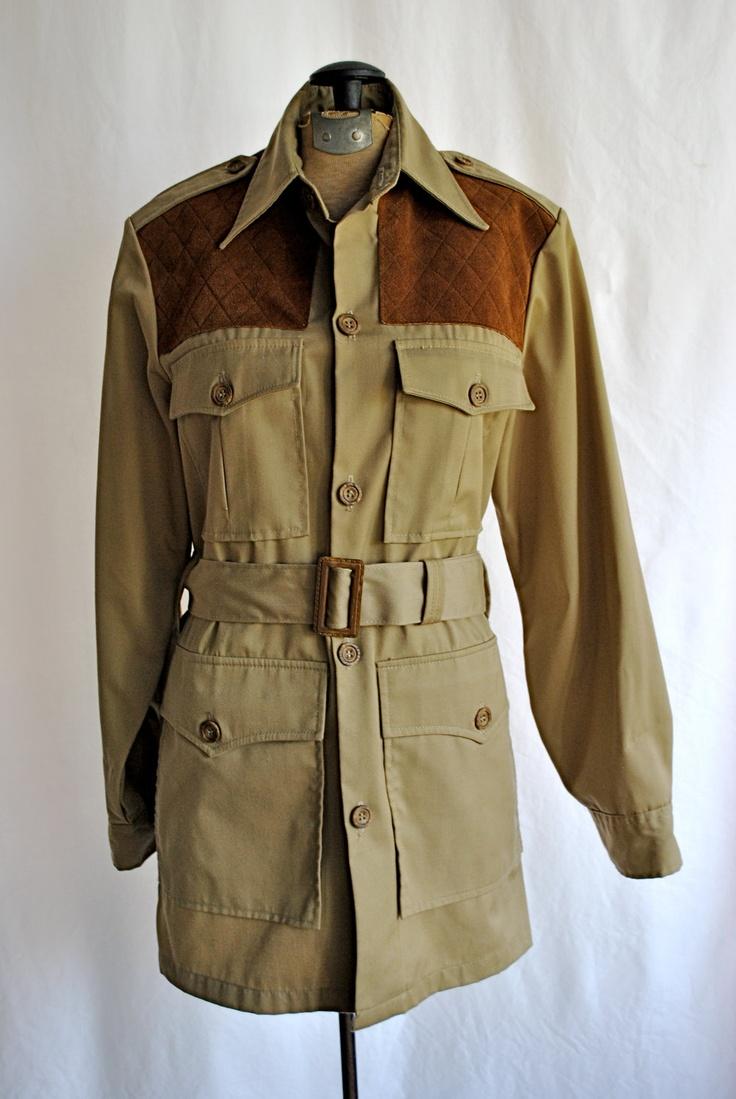 Vintage 1970s Mens Woolrich Safari Jacket // . $38.00, via Etsy.