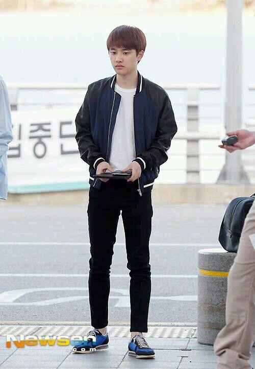 140704- EXO D.O. (Do Kyungsoo) @ Incheon Airport to Chengdu Airport #exok #fashion #mens