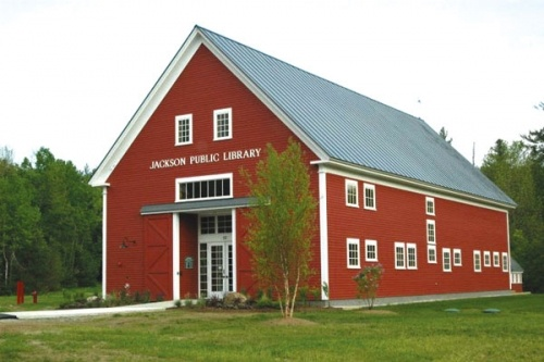 Jackson (N.H.) Public Library. Featured in American Libraries, this public library lives in a historic barn that was dismantled and re-erected for the library.