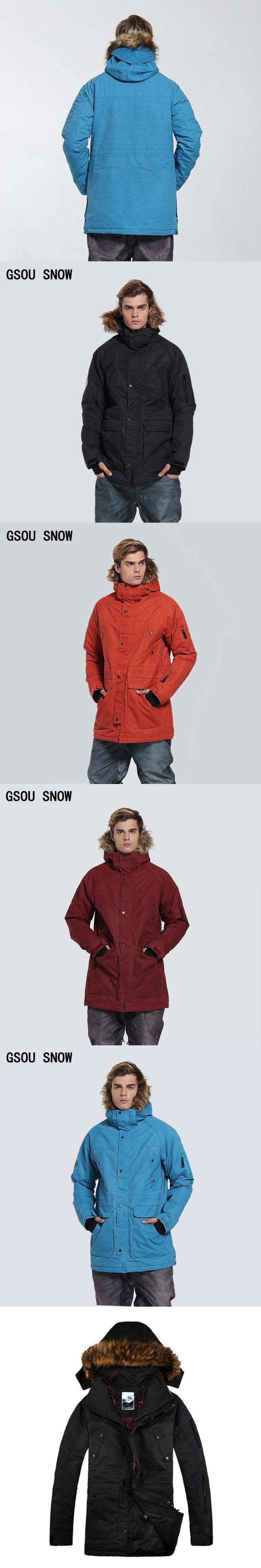 Gsou Snow winter ski snowboard jacket men insulated snow suit black warm waterproof ropa chaqueta esqui hombre veste ski homme