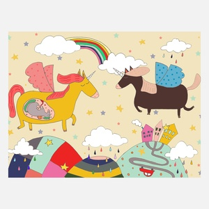 My Little Unicorn Print A4 now featured on Fab.