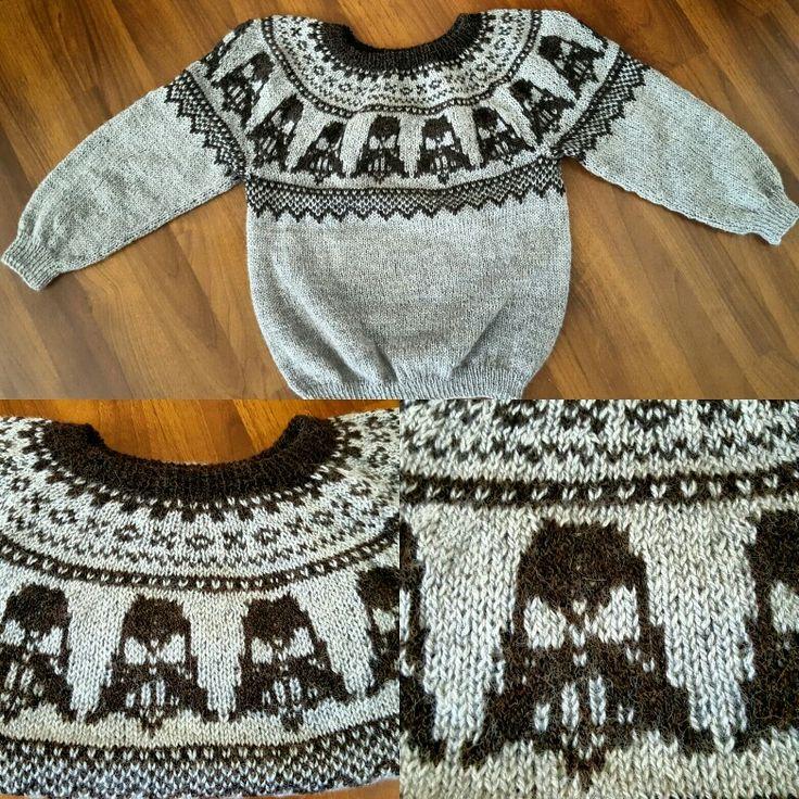 Darth Vader genser sweater knitting
