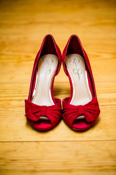 Ruby Red Bridal #Shoes by Jessica Simpson #Weddings   Duy Ho Photography