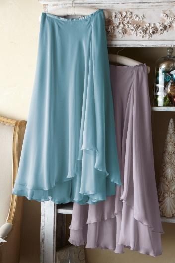 Valencia Skirt - Sheer Chiffon Skirt, Elastic Waistband Skirt, Relaxed Fit Skirt   Soft Surroundings