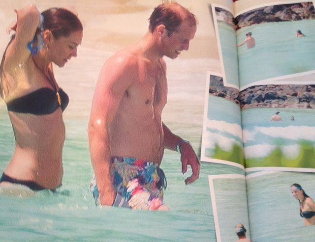 Prince William and Kate during the Seychelles Honeymoon in 2011