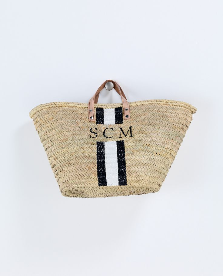 Monogram Basket | Baskets & Clutches | Accessories